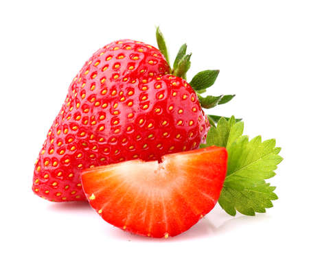 Strawberry with slice 免版税图像