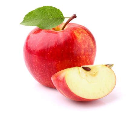 manzana roja: Apple con la rebanada