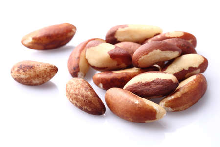 Brazil nuts in closeup 版權商用圖片