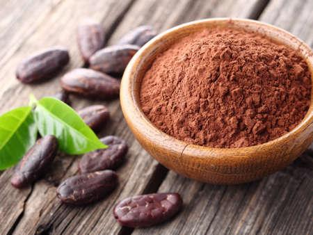 poudre de cacao Banque d'images