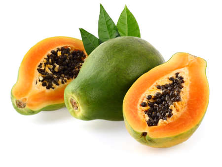 Fresh papaya Stock Photo