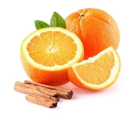cinnamon bark: Orange fruit with cinnamon