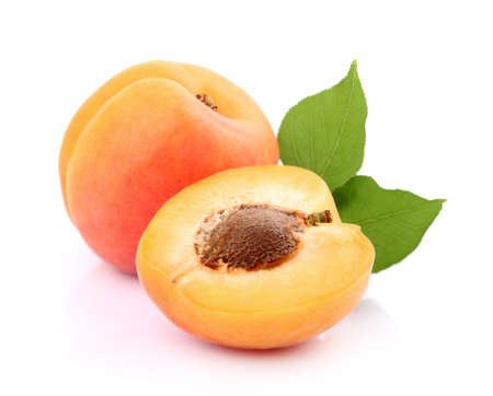 Apricot in closeup Imagens