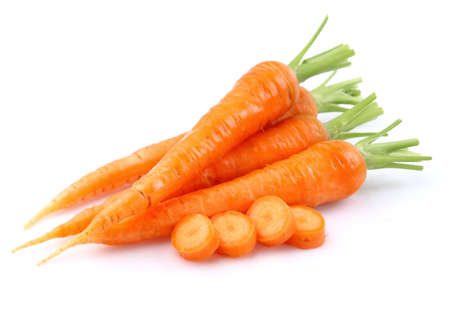Young carrot in closeup