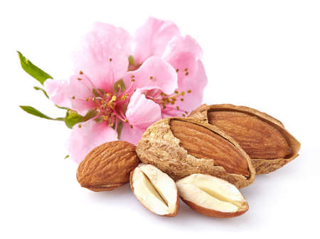 Almonds with flowers