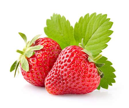 Strawberry with leaves Reklamní fotografie