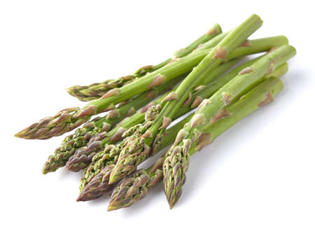 Asparagus in a wooden background Banque d'images