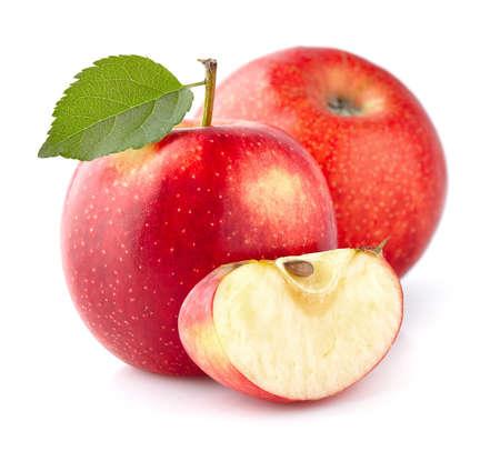Manzanas rojas en primer plano