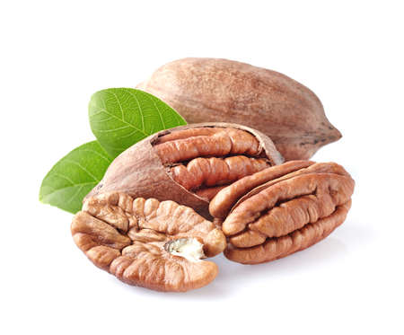 Pecan noten in close-up Stockfoto - 43584690