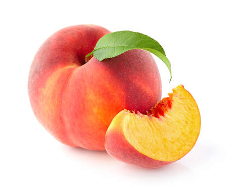 Fresh peach Foto de archivo