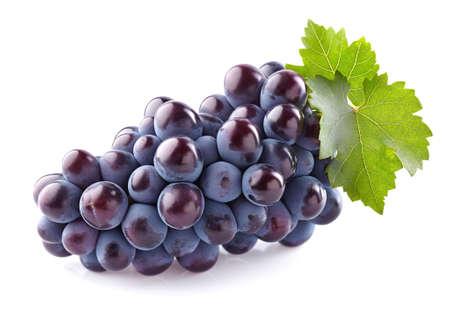 Zoete druiven met bladeren Stockfoto