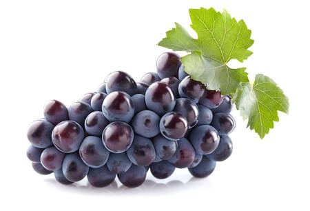 Sweet grapes with leaves