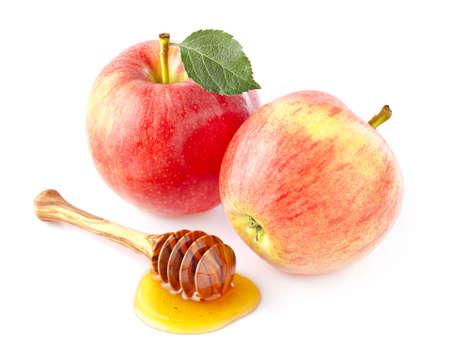 Apple with honey Stok Fotoğraf - 46020833