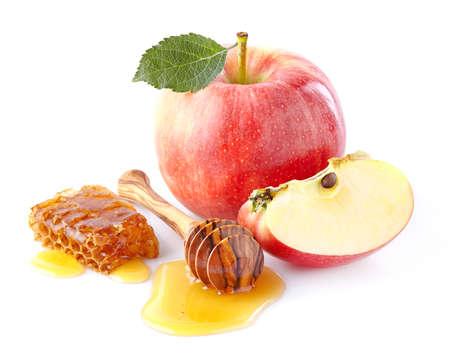 Appels met honing Stockfoto