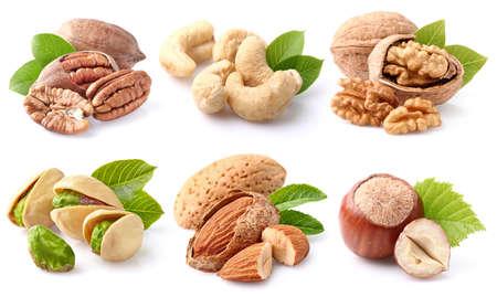 Nuts collage Foto de archivo