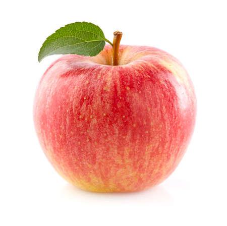 homme détouré: Pomme mûre en gros plan