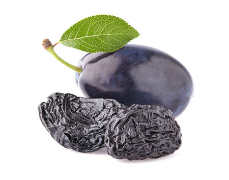 purple leaf plum: Plum with prunes Stock Photo