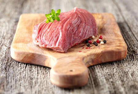 raw beef: Raw beef with spices Stock Photo