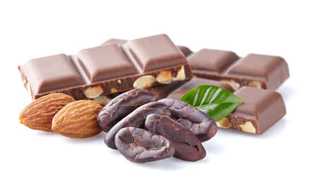 almond: Almonds chocolate Stock Photo