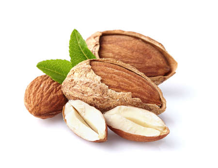 almond: Almonds nuts Stock Photo