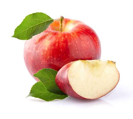 Apple with slice Stock Photo