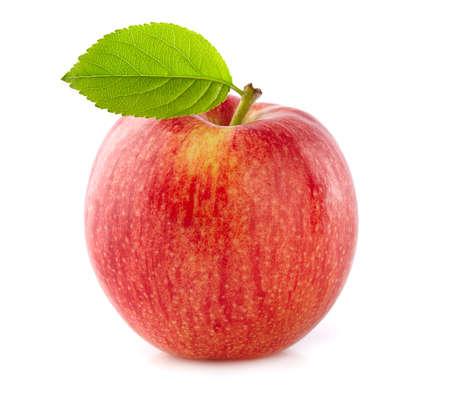 fresh leaf: Fresh apple with leaf