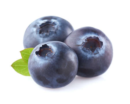 blueberries: Blueberry with leaf