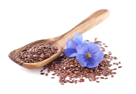 grained: Flax seeds with flowers