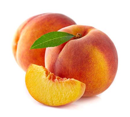 ripe: Ripe peaches with slice