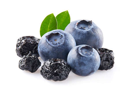 Blueberries fresh and dried