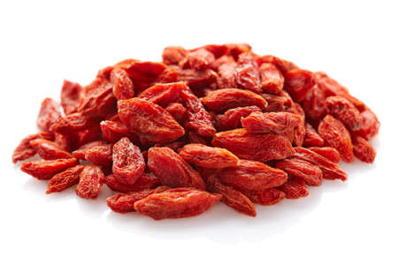 lycium: Goji berries on a white background
