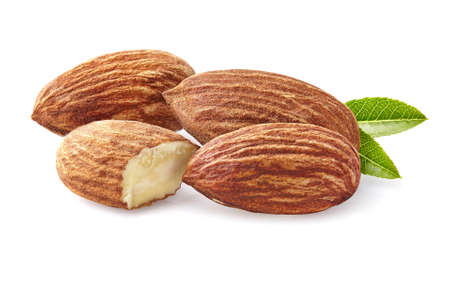 hickory nuts: Almonds kernel with leaf