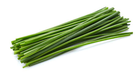 Chives spice on a white background