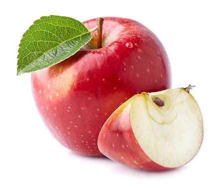 Fresh apple with slice