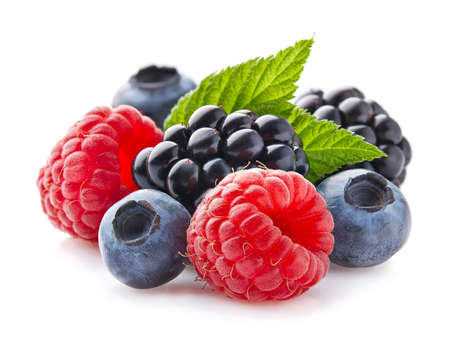 Mix berries with leaf 版權商用圖片 - 85161691