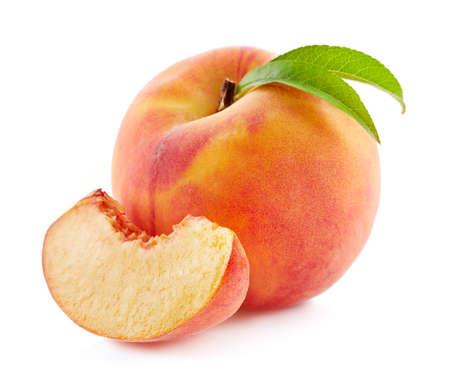 桃のスライス