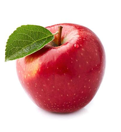 Red apple in closeup