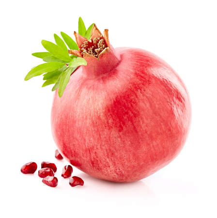 Pomegranate with seeds on a white Stok Fotoğraf