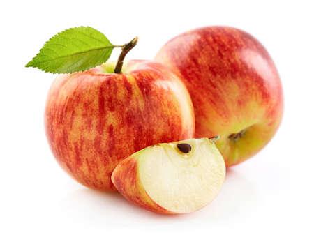 Red apple with slice Stok Fotoğraf