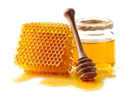 Honeycomb with honey Stockfoto