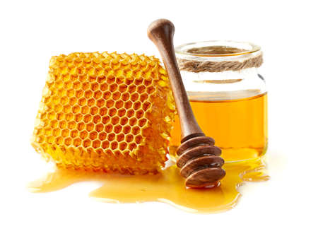 Honeycomb with honey Banque d'images