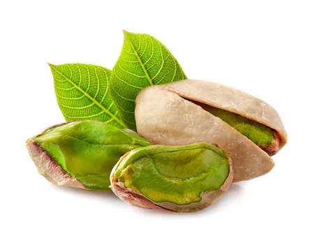Pistachio with leaf