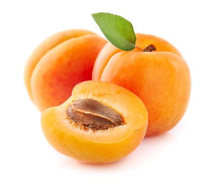 Frische Aprikosenfrucht in Nahaufnahme