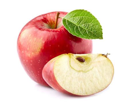 Red apple with slice Zdjęcie Seryjne