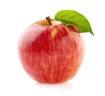 Ripe apple on white background Standard-Bild