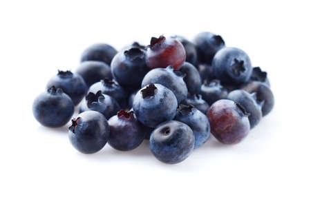Fresh blueberry in closeup on white background Stock Photo