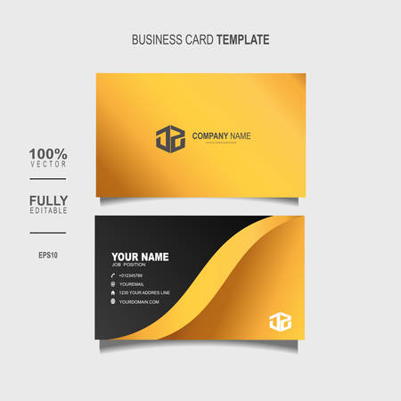 Creative and Clean Double-sided Luxury Business Card Template Vector Illustration Stok Fotoğraf - 129901685