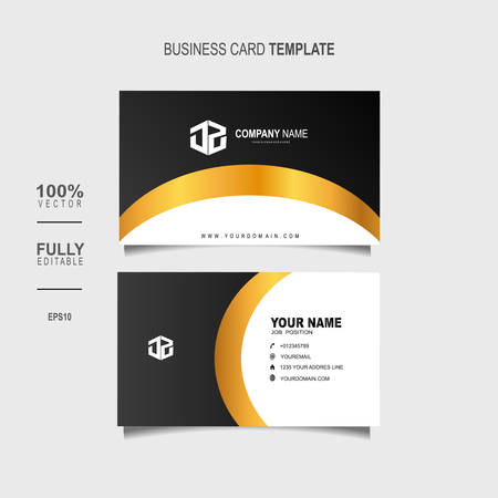 Creative and Clean Double-sided Luxury Business Card Template Vector Illustration Stok Fotoğraf - 129901688