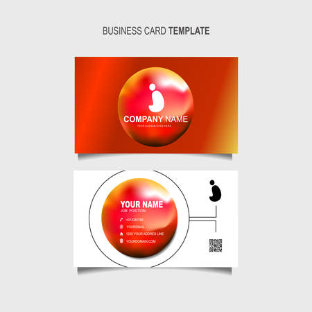 Business Card Template with 3d colorful dynamic abstract Stok Fotoğraf - 129901825