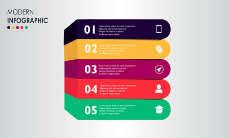 Timeline Business Infographic design vector with icons can be used for workflow layout Business data visualization. Creative concept for infographic